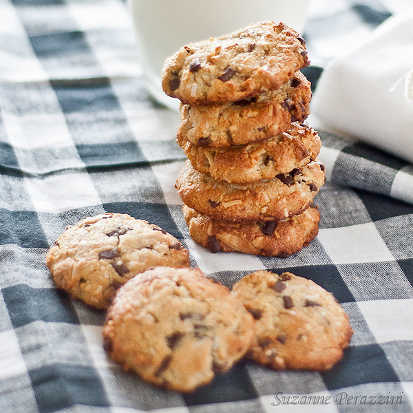 Almond, Coconut & Chocolate Chip cookies