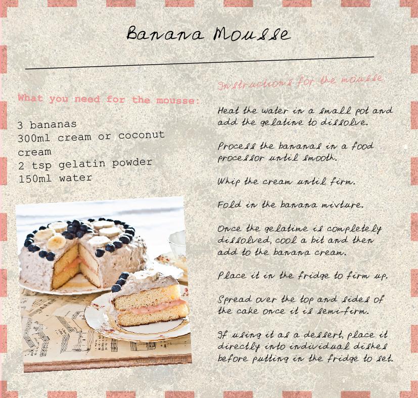 Banana mousse Cake
