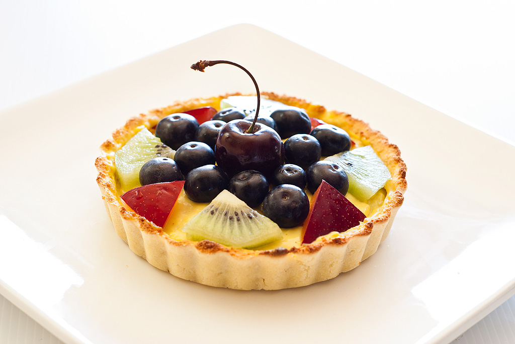 Custard Fruit Tart - grain and refined sugar-free