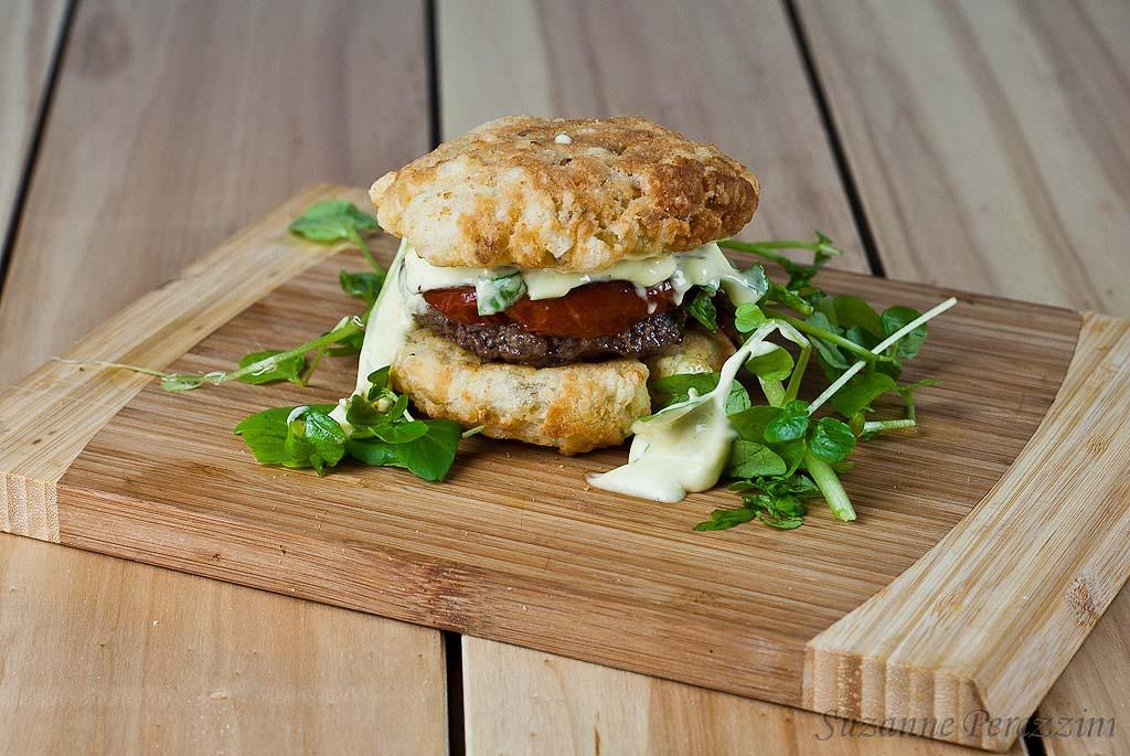 Gluten-Free Burger & Grain-Free Bread Rolls