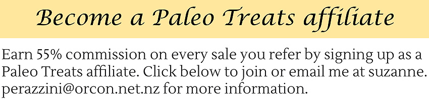 Paleo Treats by Suzanne Perazzini affiliates program