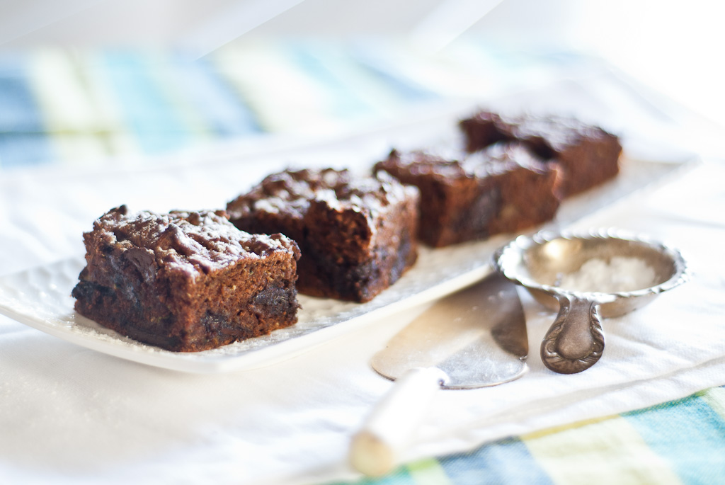 Chocolate Zucchini Brownies - gluten-free & fructose friendly