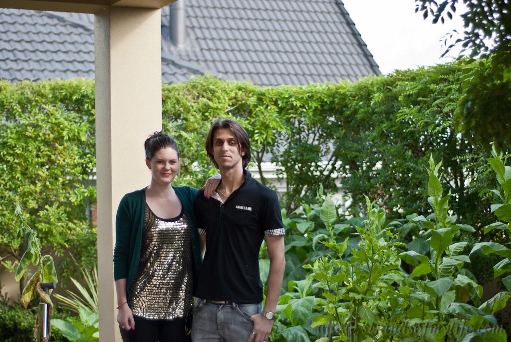 Dario & Alex with tobacco plants