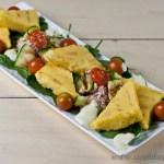 Polenta Triangles and Tuna Salad - gluten-free and low FODMAP