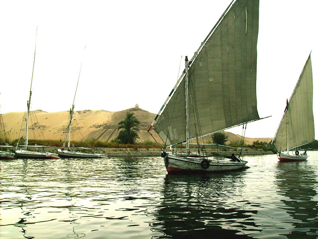 Feluca on the Nile in Egypt