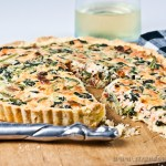 Salmon and Spinach Quiche - gluten-free & low FODMAP