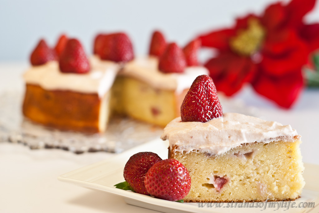 Strawberry Potato Cake - gluten-free and low FODMAP