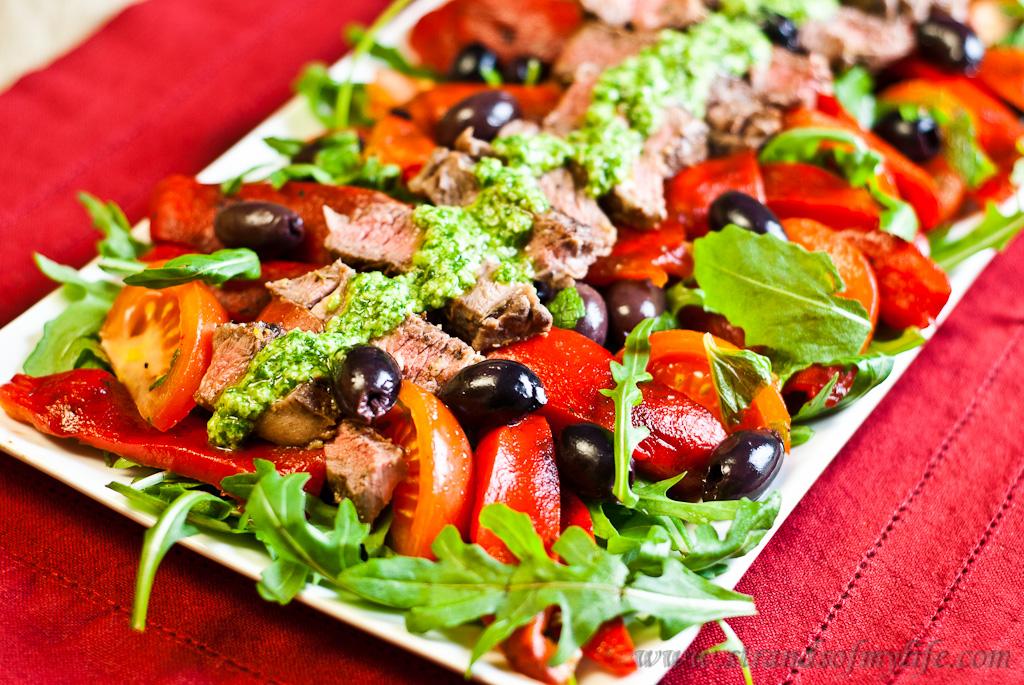Greek Lamb Salad - low Fodmap