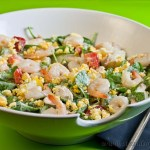 Chicken prawn salad – low Fodmap and gluten-free