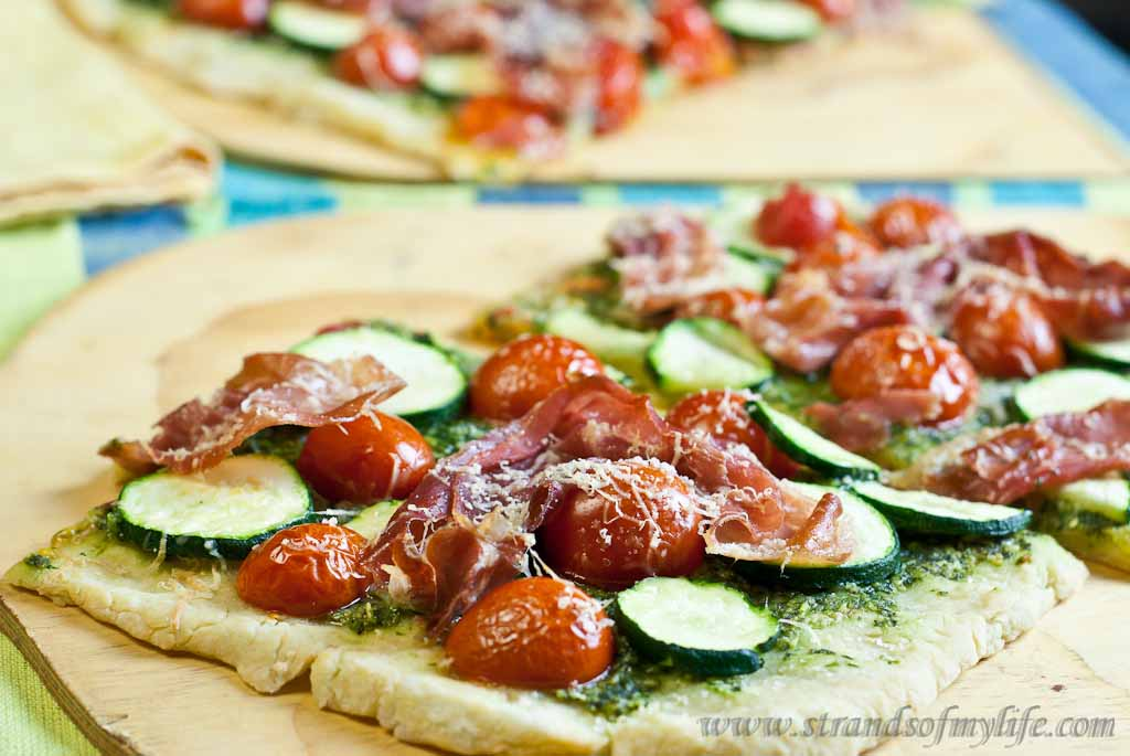 Pesto and Proscuitto Pizza - Low Fodmap and Gluten-Free