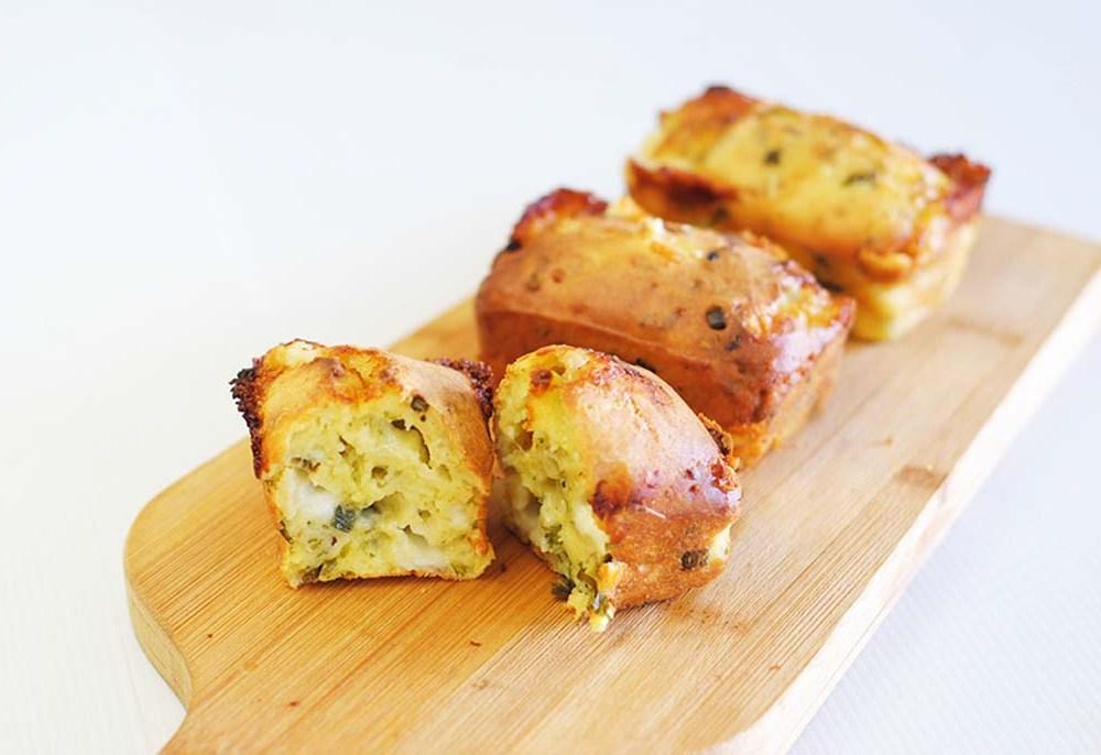 Cheese and Leek Mini-Loaves