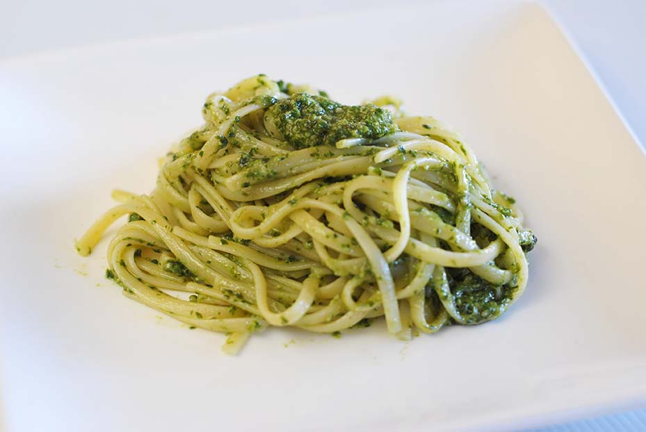 Low Fodmap Pesto Pasta