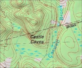 CAstle Caves Mape