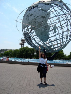 Kali, the Unisphere, and the NYS Pavilion observation towers.