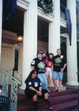 Kali and friends at the Mansion's 30th anniversary festivities, 1999.