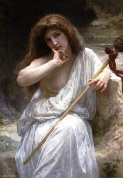 William Adolphe Bouguereau maenad with thyrsus.