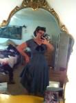Blue Taffeta and Velvet Dress