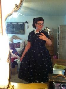 Acetate 1950s Dress