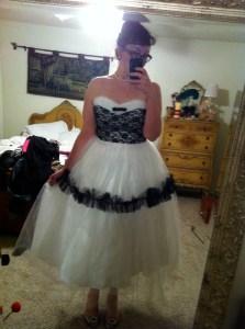 Unique Vintage reproduction prom dress