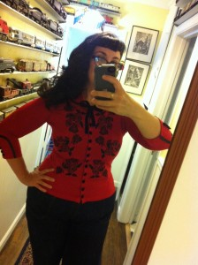 Red Wheels & Dollbaby Dita Cardigan