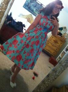 Blue and Pink Evelyn Dress