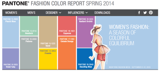 Women's Spring 2014 Color Report - Pantone Fashion Color Report - from Pantone.com