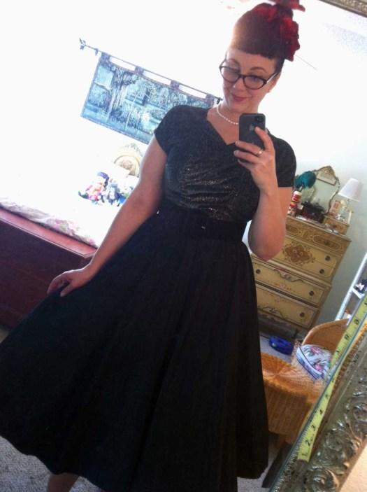 image_44Vintage Lurex and taffeta evening dress