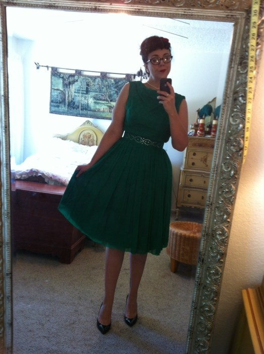 Vintage chiffon cocktail dress