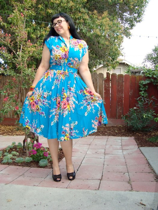 Trashy Diva Maria dress in turquoise floral