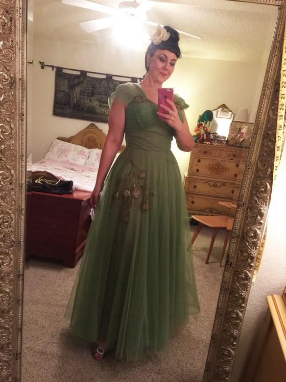 Green Emma Domb Dress
