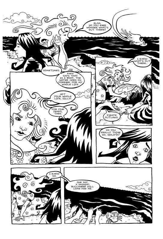 <cite>Violet Miranda</cite>, Page 3 © Emily Pohl-Weary and Willow Dawson 2005