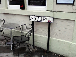 Zed Alley sign