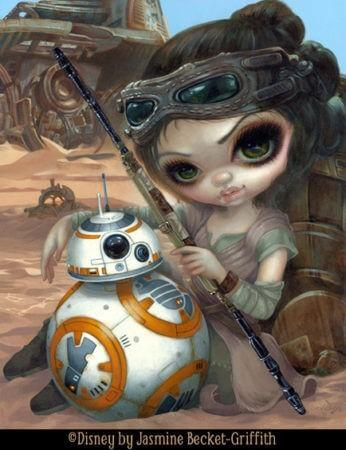Rey And BB 8 By Jasmine Becket Griffith Disney Star Wars