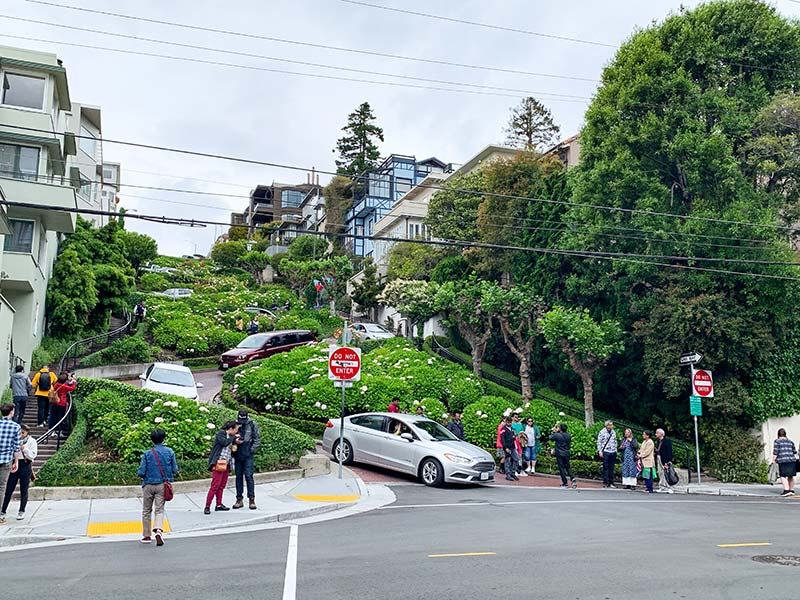 Lombard Street in Russian Hill San Francisco