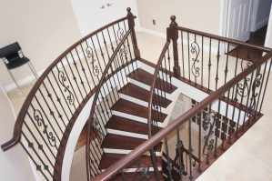 Staircase Refinishing, Hardwood Stairs, Remove Carpet, Install Oak Treads, New Stairs, Custom Stain, Custom Color, Replace Carpet with Oak Stairs, Toronto, Vaughan, GTA, Richmond Hill, Aurora, King, Newmarket, Mississauga, Brampton