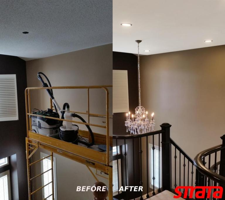 Dustless Popcorn Accoustic Ceiling Stucco Texture Removal, toronto, vaughan, richmond hill, north york, king city, aurora