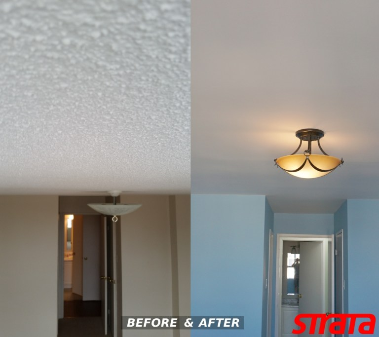 dustless popcorn ceiling removal – strataline inc.