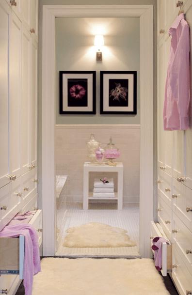 Walk-through closet to bathroom, closet, clothes and shoes Storage ideas, Toronto, Vaughan, GTA, Richmond Hill, Aurora, Newmarket