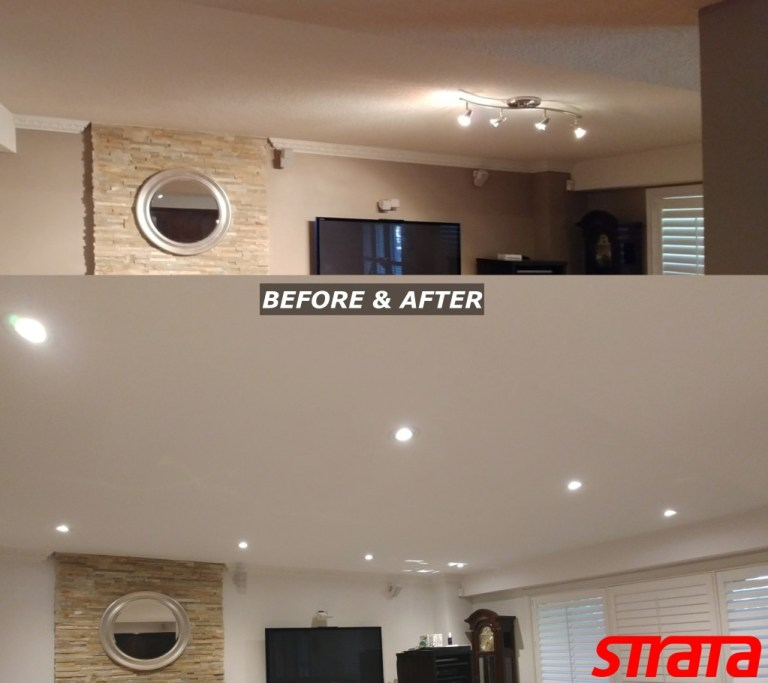 LED Potlight installation and Dustless Popcorn ceiling removal Richmond Hill