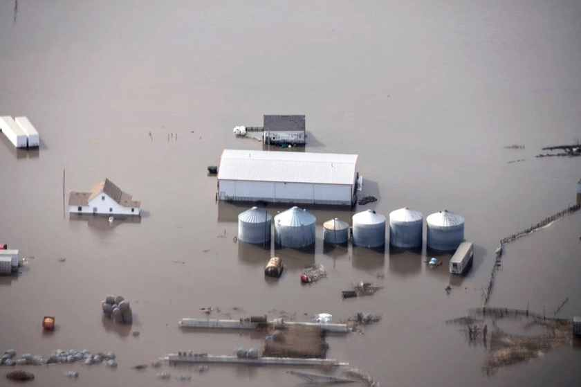 Missouri River flooding in Iowa 2019