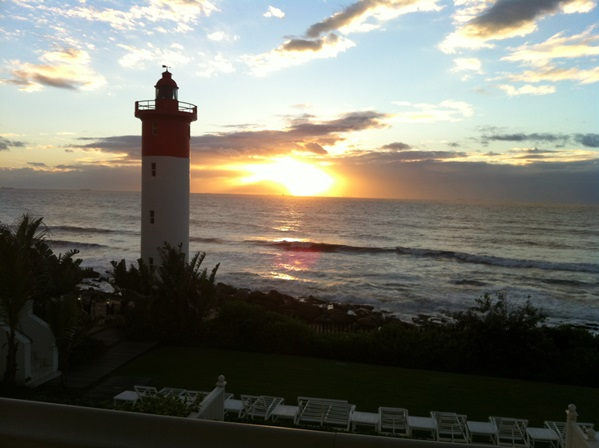 A 'Golden' Sunrise from my window at the Oyster Box Hotel.