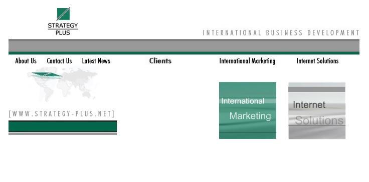 Strategy Plus Homepage Web Design 2001