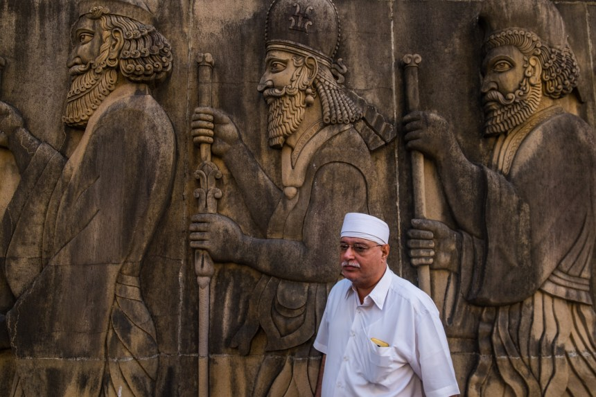 Jamshed Bhesadia has been panthak, or head priest, of the 161-year-old Kappawala Agiary, or fire temple, for the past 18 years, and is tasked with maintaining the holy fire worshipped by the Parsis.