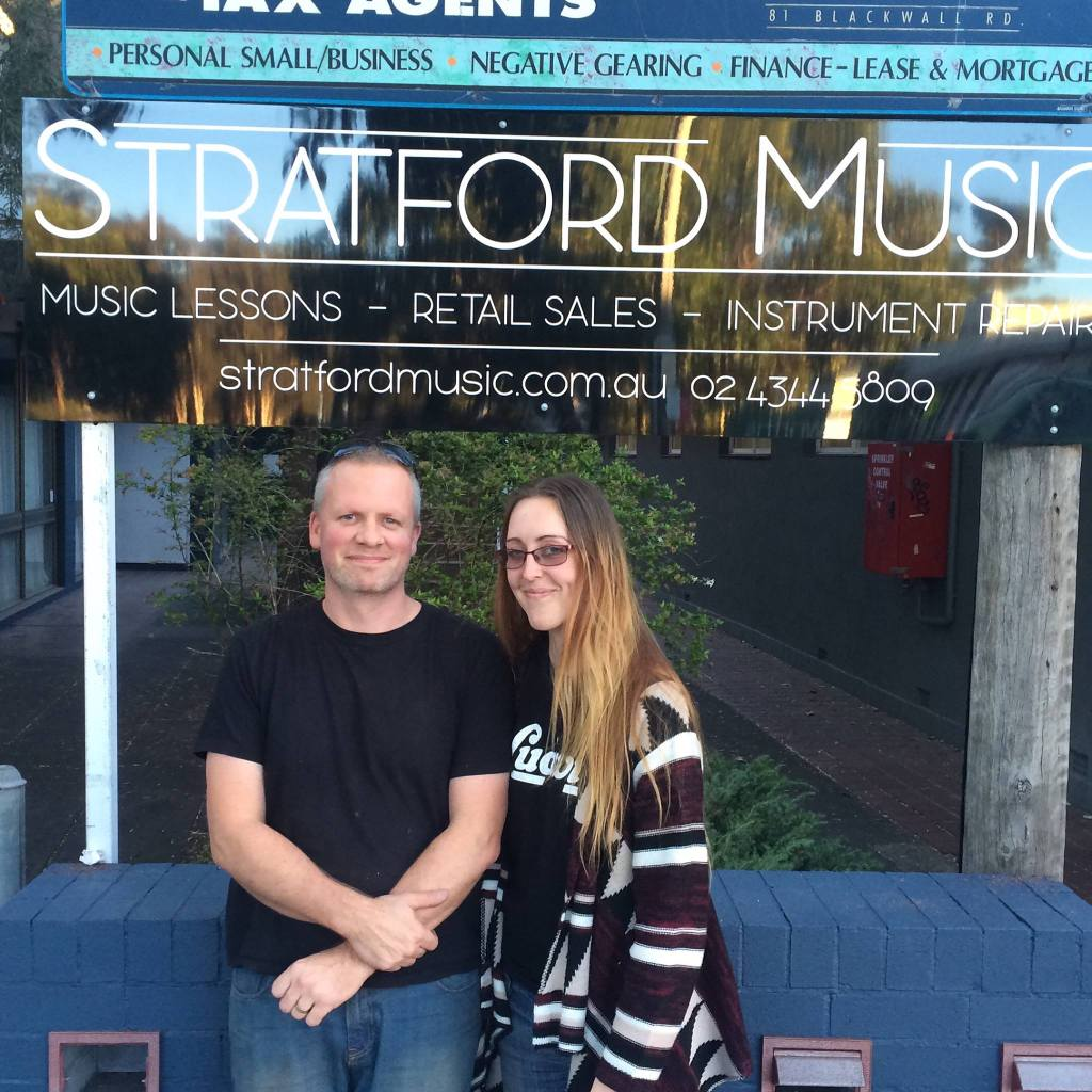 Music lessons history of Stratford Music. Chris and Madeline Stratford built and designed this music school on the peninsula of the Central Coast.