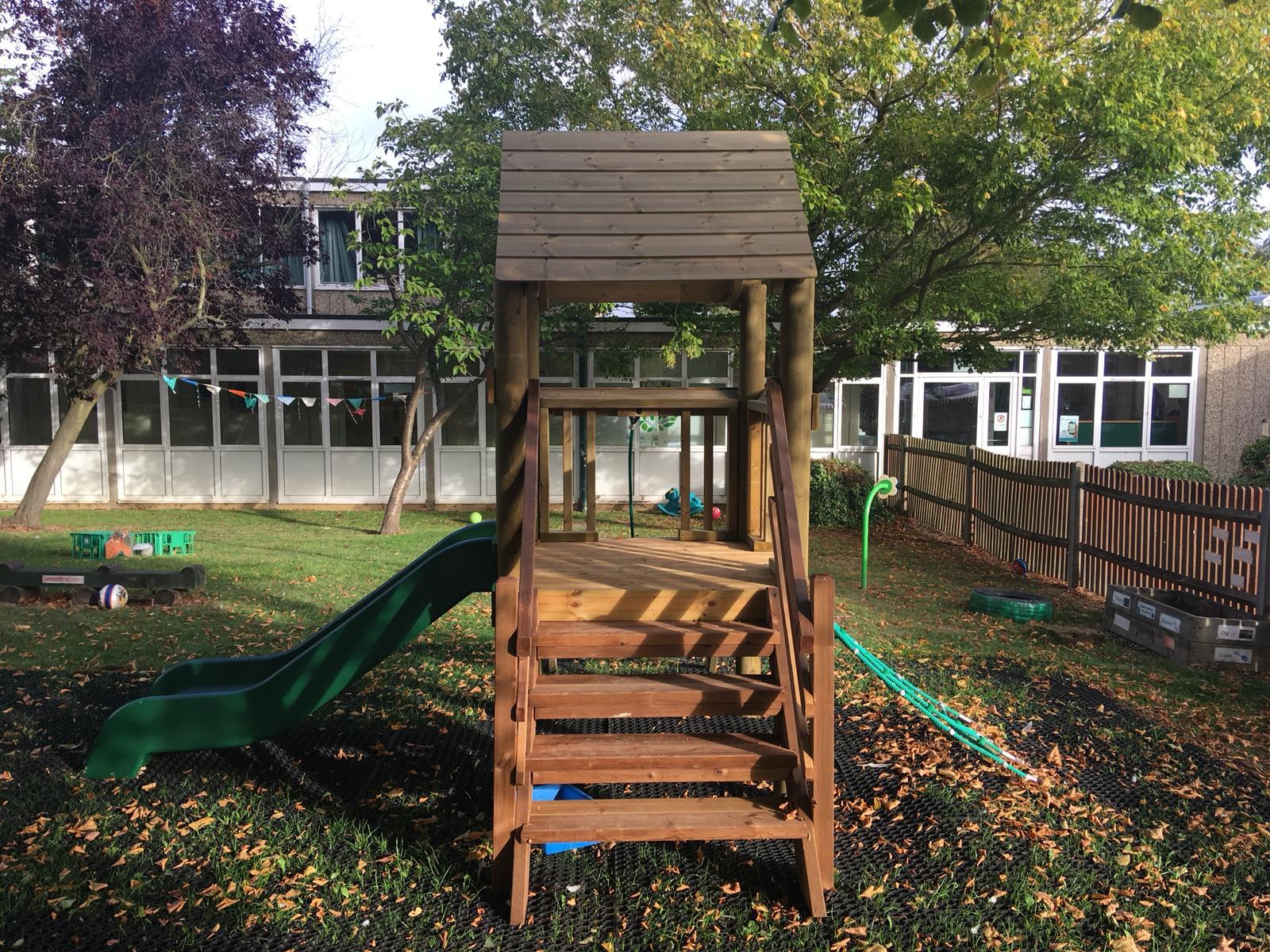Strathmore Preschool New climbing frame side