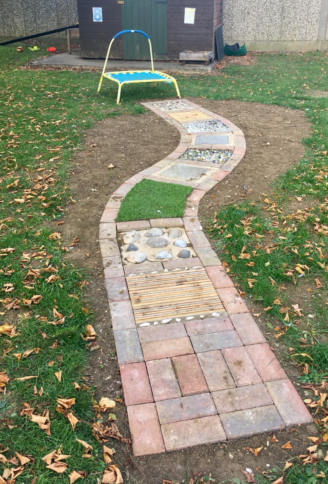 Strathmore Preschool new sensory path