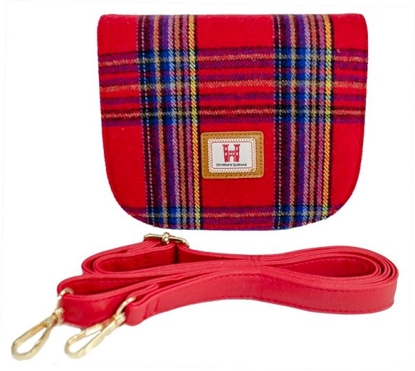 red royal stewart handbag