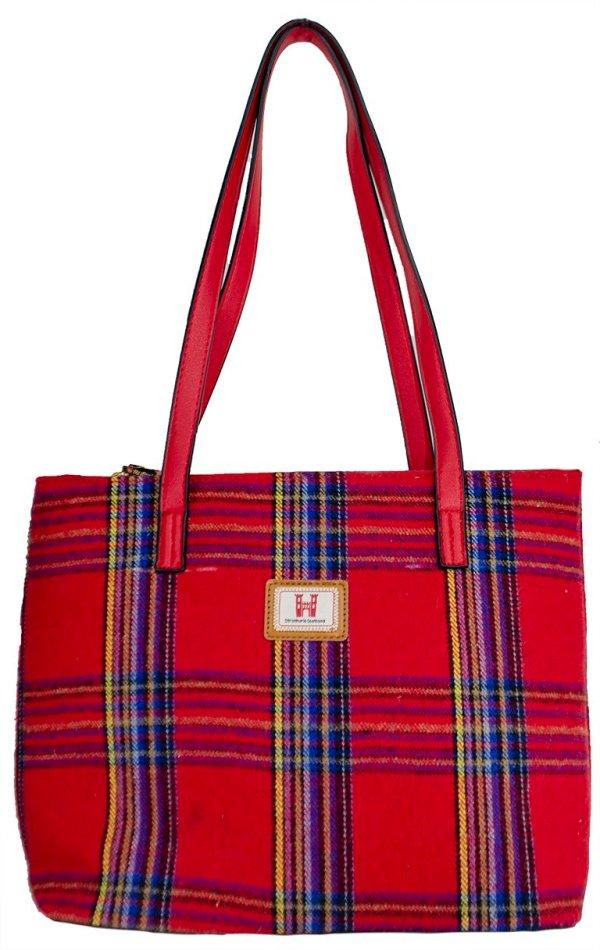 red royal stewart handbag