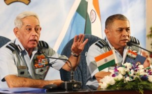Air Chief Marshal Fali Homi Major and Air Marshal PV Naik