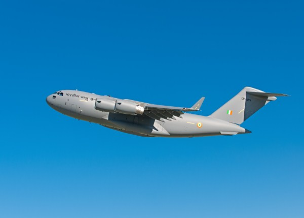 The first IAF Boeing C-17 Globemaster III undergoing USAF flight tests in 2013  | Photo: Boeing